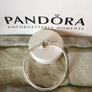 Pandora charm bracelet sterling silver